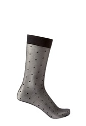 Forever 21 Sheer Polka Dot Socks Black