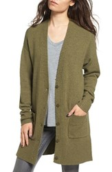 Women's Bp. Knit Grandpa Cardigan Olive Burnt