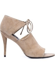 Alexander Wang Lace Up Sandals Nude And Neutrals
