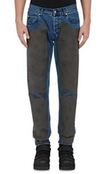 Hood By Air Men's Chaps Jeans Blue Grey Blue Grey