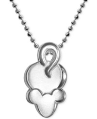 Alex Woo Little Mouse Zodiac Pendant Necklace In Sterling Silver