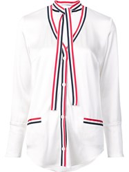 Thom Browne Contrast Trim Shirt White