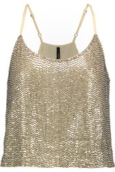 W118 By Walter Baker Amber Embellished Georgette Top White