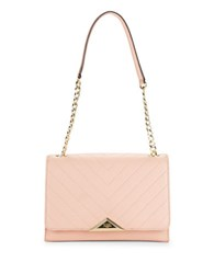 Karl Lagerfeld Gigi Pebbled Leather Shoulder Bag Blush