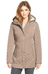Calvin Klein Women's Hooded Quilted Jacket Navy