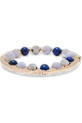 Uribe Guion Gold Plated Beaded Bracelet Gold Blue