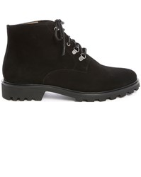 A.P.C. Alpes Black Laced Boots