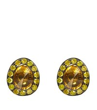 Annoushka Dusty Diamonds Citrine Stud Earrings Female