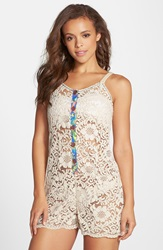 Maaji 'Bower Fragrant' Lace Cover Up Romper White
