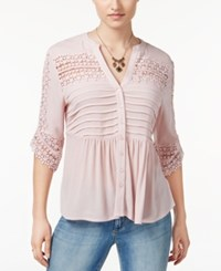 American Rag Lace Babydoll Top Only At Macy's Pale Mauve