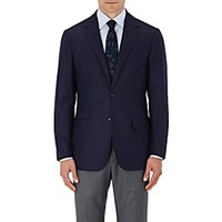 Sartorio Men's Cashmere Twill Two Button Sportcoat Navy
