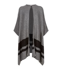 Brunello Cucinelli Striped Sequin Cape Female Dark Grey