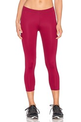 Solow Sheer Jersey High Impact Crop Legging Red