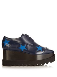 Stella Mccartney Elyse Lace Up Platform Shoes Blue Multi