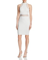 French Connection Bette Jersey Illusion Dress White