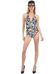 Moschino Cans Microfiber One Piece Swimsuit