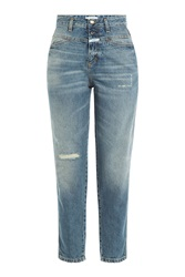 Closed Cropped Straight Leg Jeans Blue