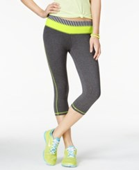 Material Girl Active Juniors' Foldover Waist Graphic Cropped Leggings Only At Macy's Limearita
