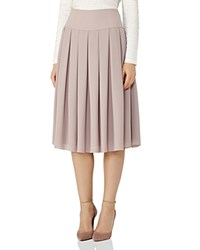 Reiss Eli Pleated Midi Skirt Ice Rose