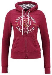Abercrombie And Fitch Core Tracksuit Top Burgundy Bordeaux