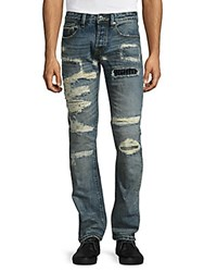 Cult Of Individuality Rebel Distressed Straight Leg Jeans Clash