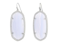 Kendra Scott Danielle Earrings Rhodium Blue Lace Agate Earring Clear
