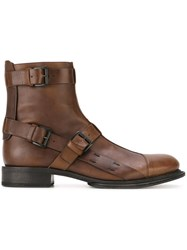 Ann Demeulemeester Buckled Boots Brown