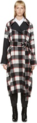3.1 Phillip Lim Tricolor Wool Plaid Trench Coat