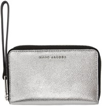 Marc Jacobs Silver And Black Wingman Wallet