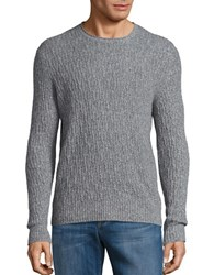 Black Brown Cable Knit Wool Blend Sweater Boulder Heather