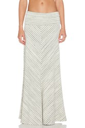 Saint Grace Chevron Maxi Skirt White