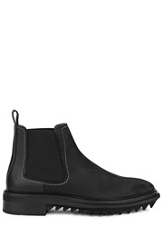 Lanvin Black Leather And Suede Chelsea Boots