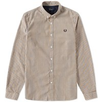 Fred Perry Basketweave Shirt Yellow