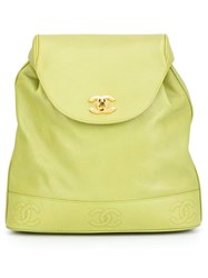 Chanel Vintage Classic Backpack Green
