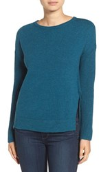 Trouve Women's Asymmetrical Hem Sweater
