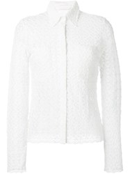See By Chloe Floral Lace Shirt White