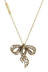 Marc Jacobs Embellished Bow Necklace Gold