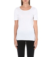 Hanro Seamless Cotton T Shirt White