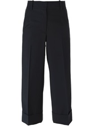 Thom Browne Striped Sides Cropped Trousers Blue