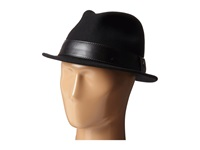 San Diego Hat Company Sdh2037 Fedora With Black Faux Leather Band Black Fedora Hats