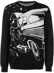 Christopher Kane Car Crash Jumper Black