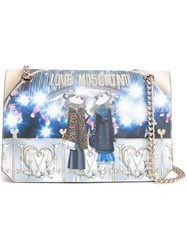 Love Moschino 'Flashes' Print Shoulder Bag Brown