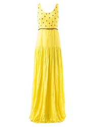 Emannuelle Junqueira Embellished Maxi Dress Yellow And Orange