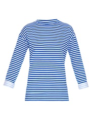 Mih Jeans Long Sleeved Striped Cotton Jersey T Shirt