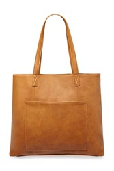 Forever 21 Faux Leather Pocket Tote