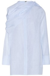 Adam By Adam Lippes Cotton And Linen Blend Shirt Sky Blue