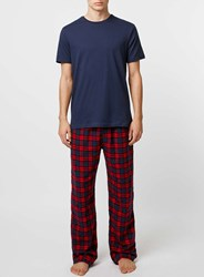 Topman Red And Navy Pyjama Set
