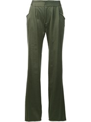 Baja East Loose Fit Trousers Green