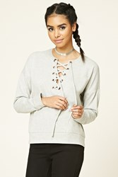 Forever 21 Lace Up Sweatshirt