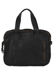 Allsaints Shoto Soft Leather And Nylon Work Bag